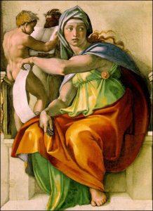 Илл.: Сивилла, Сикстинская капелла, Микеланджело (1508 - 1512)