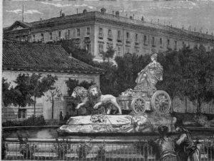 Иллюстрация: фонтан Кибелы, Мадрид