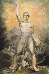 William Blake. Angel of the Revelation (c. 1803-1805). New York, Metropolitan Museum of Art